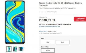 Redmi Note 9S Ülkemizde Satışa Sunuldu