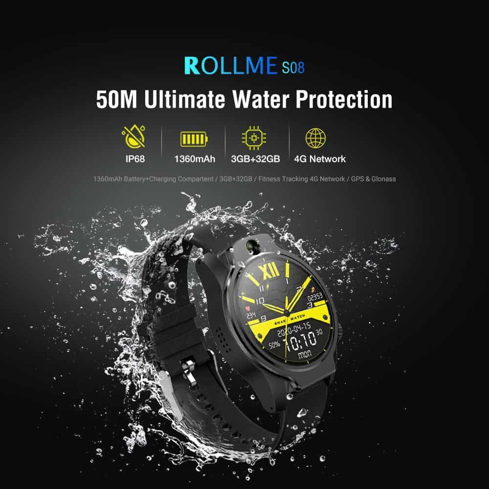 Çerçevesiz Ekranı Olan Akıllı Saat Geliyor: Rollme Hero.