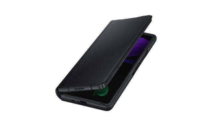 Galaxy Z Fold2 İçin Yeni Resmi Deri Kılıf Tam Koruma Sağlar