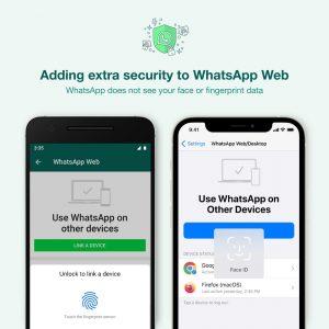 WhatsApp Web / Masaüstü bağlantısı, Biyometrik kimlik doğrulama özelliğine sahip