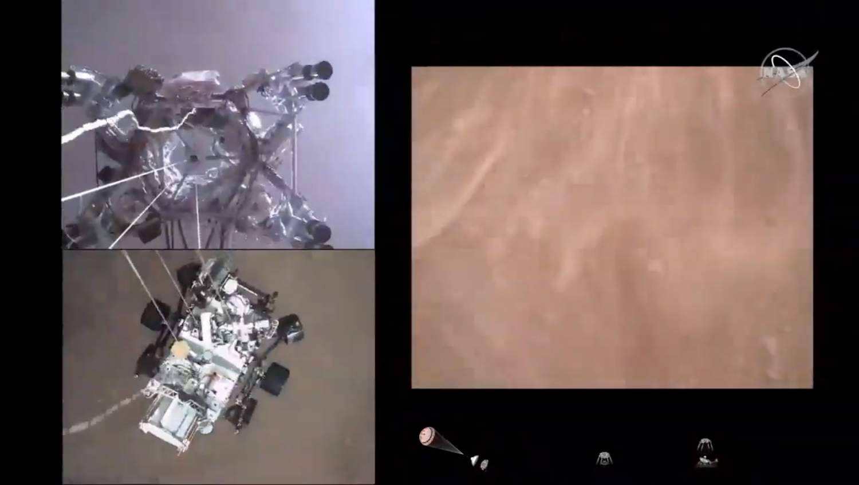 Bu inanılmaz videoda NASA Perseverance Mars gezgini inişini izleyin