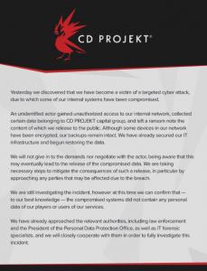 CD Project Red Hacklendi: Korsan, 48 Saat Verdi!
