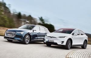 Alman Devi Audi Tesla'yı Geçemedi!