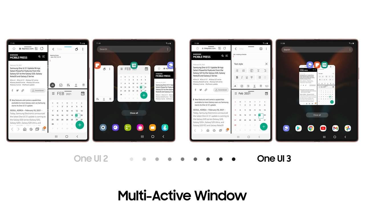 Samsung Galaxy Z Fold2 için bir UI 3.1 güncellemesi yeni deneyimler getiriyor 2021